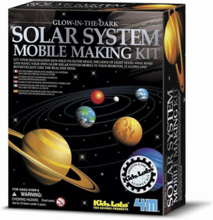 Glow-in-the-dark - solsystemet mobil (4M)