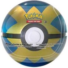 Pokemon Tin Box - Pokeball Svart/Gul Luxury Pokeball med 3 boostere + mynt