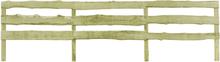 vidaXL Staket 3 ribbor 4 st impregnerad furu 510x120 cm