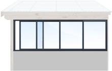 Skjutbara fönster Vår/höst - Isolent Antracitgrå, 290 cm - 4 luckor, Original Design