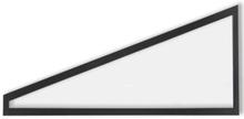 Fast gavelspetsfönster Förlängd sommar - Excellent 188,9 x 87,5/11,2 cm, Antracitgrå, Vänster