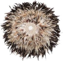 Beliani Väggdekoration med snäckor 60 cm ljusbrun JUJU