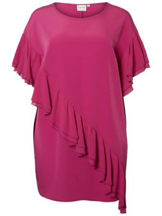 JUNAROSE Ruffle Dress Women Red