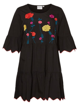 JUNAROSE Embroidered Dress Women Black
