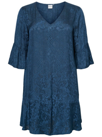 JUNAROSE Jacquard Woven Dress Women Blue