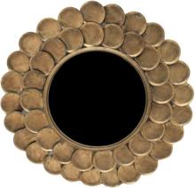 Druvan spegel 75 cm - Antik mässing