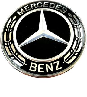 Mercedes-Benz motorhuv Emblem Svart 57mm