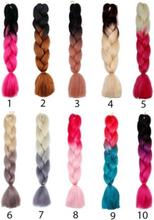 Ombre braid. flera olika braids. till flätor & rastaflätor