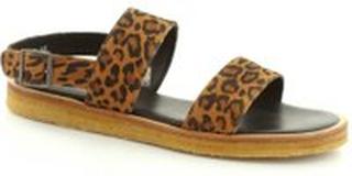 Angulus sandal med lav hæl, (Konjakk)