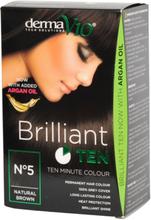 DermaV10 Brilliant Ten Hair Colour Natural Brown 1 st
