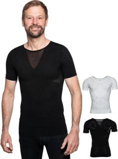 Hållningskorrigerande T-shirt MAN (Färg: SVART, Storlek: MEDIUM)