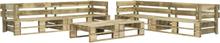 vidaXL Pallsoffa set 6 delar trä