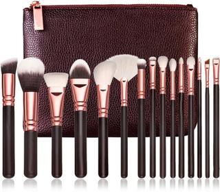 ReVolt Brush Kit Rose Gold 15 - Sminkborste Kit