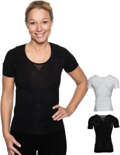 Hållningskorrigerande T-shirt KVINNA (Färg: SVART, Storlek: LARGE)