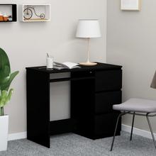 vidaXL Skrivbord svart 90x45x76 cm spånskiva