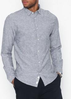 Only & Sons onsCAIDEN Ls Solid Linen Shirt Skjortor Mörk Blå