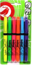Auchan - Zakreślacz mix 6 kolorów
