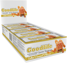 15 x Goodlife Low Sugar, 50 g, Proteinbars, Salted Caramel