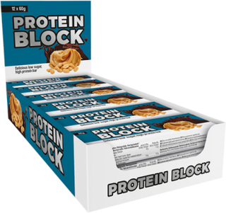 12 x Protein Block, 60 g, Chocolate Toffee
