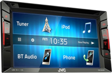 KW-V240BT - DVD receiver - display 6.2 in - in-dash unit - Double-DIN - LCD display LCD display