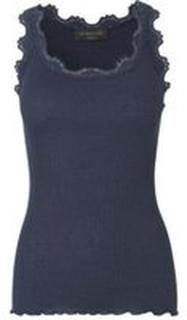 Marine Rosemunde Rosemunde Silk Top Vintage Lace - Navy Topper