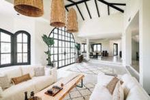 Ibiza pellava sohva XL | 330cm - Hiekka