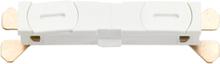 SG Armaturen 7400009 Skarv till ZIP-skena, rak, vit