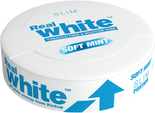 Kickup Real White, Mint SLIM, 24 porsjonsposer