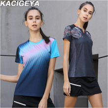 Quick Dry Breathable Badminton Shirt Women Sports Table Tennis T Shirts Team Game Running Training Short Sleeves