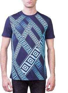 Versace Collection mäns Crew Neck Fit Regular T-Shirt Marinblå Blå L