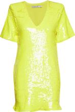 Sequin Dress Kort Klänning Gul IVYREVEL