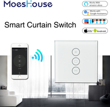 WiFi Smart Curtain Switch Smart Life Tuya for Electric Motorized Curtain Blind Roller Shutter Works with Alexa and Google Home