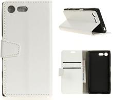 Sony Xperia Xz Premium Horse Magnetisk Lær Flip Etui - Hvit
