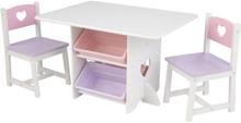 KidKraft Barnbord med 2 stolar hjärta set