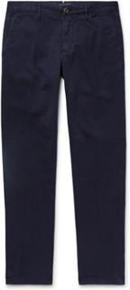 Navy Slim-fit Cotton-twill Chinos - Navy