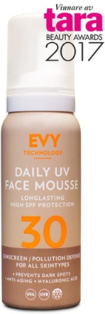 EVY Daily UV Face Mousse SPF 30, 75 ml