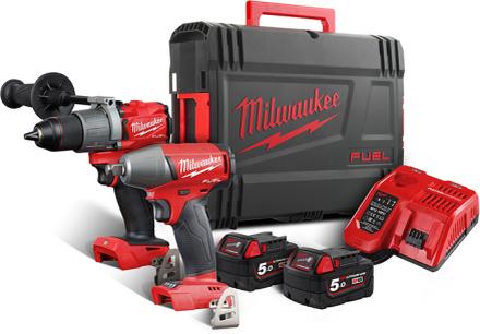 Milwaukee M18 FPP2C2-502X Verktygspaket