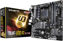 GA-78LMT-USB3 R2 Moderkort - AMD 760G - AMD AM3+ socket - DDR3 RAM - Micro-ATX