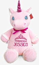 Rosa enhörning mjukisdjur med namn, 40 cm