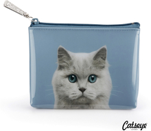 Catseye London Cat On Blue Pouch
