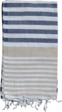 Hamam Handduk Galia Beige/Navy