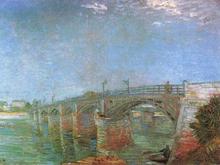 The Seine Bridge At Asnieres,vincent Van Gogh,53x73cm