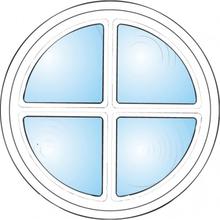 Dekorfönster Rund med spröjs Modul 3