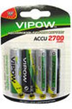 Ladattava paristo AA 2700mAh 4kpl - Vipow