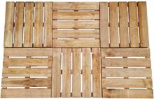 vidaXL terrassefliser 6 stk. 50 x 50 cm træ brun