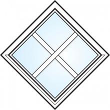 Dekorfönster Fyrkant med spröjs