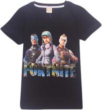 Fortnite T-shirts til børn størrelse 140 Sort (model 8393)
