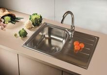 SinkSolution A LINE 800x500 1x rustfri stål køkkenvask