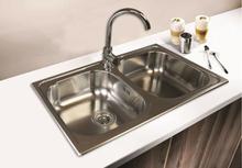 SinkSolution A LINE 800x500 2x rustfri stål køkkenvask
