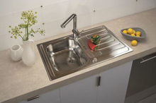 SinkSolution A LINE 860x500 1x lux rustfri stål køkkenvask